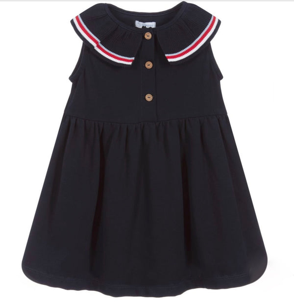 SS20 Laranjinha Girls Navy Blue Tennis Dress V0426