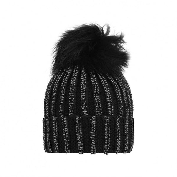 AW18 Fun & Fun Girls Black Diamante Hat