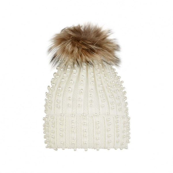 AW18 Fun & Fun Girls Ivory Pearl Hat
