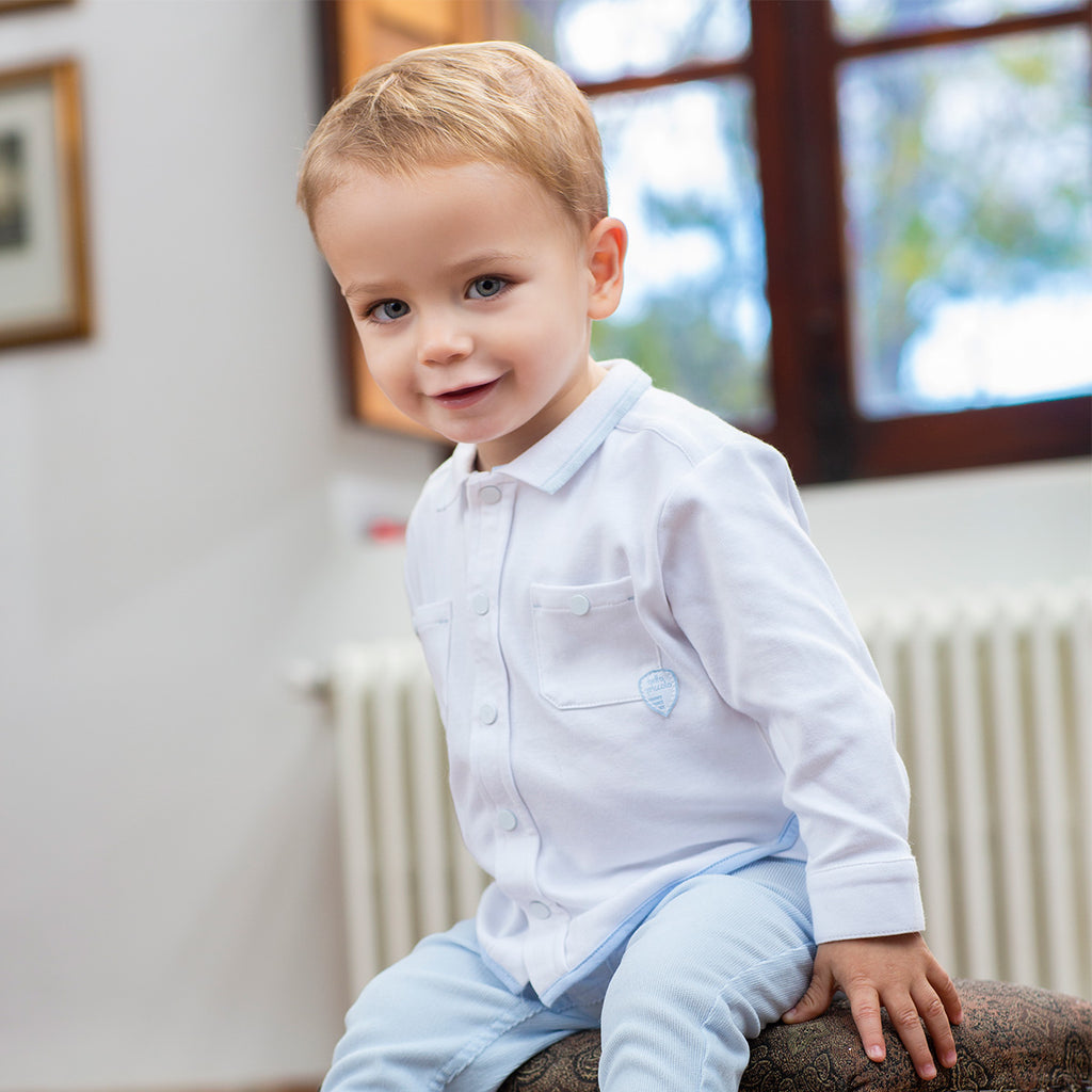 AW19 Tutto Piccolo Boys White Shirt 7010