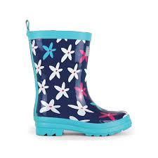 AW17 Hatley Girls Navy Flowers Wellies - Liquorice Kids