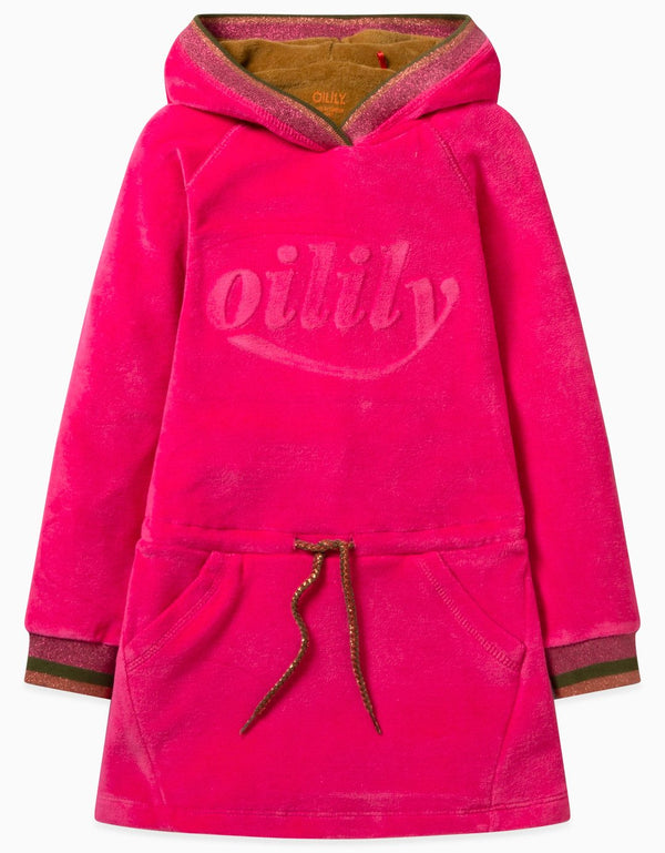 AW19 Oilily Girls Haxi Sweat Dress 38 Velvet Dress With Oilily 3D