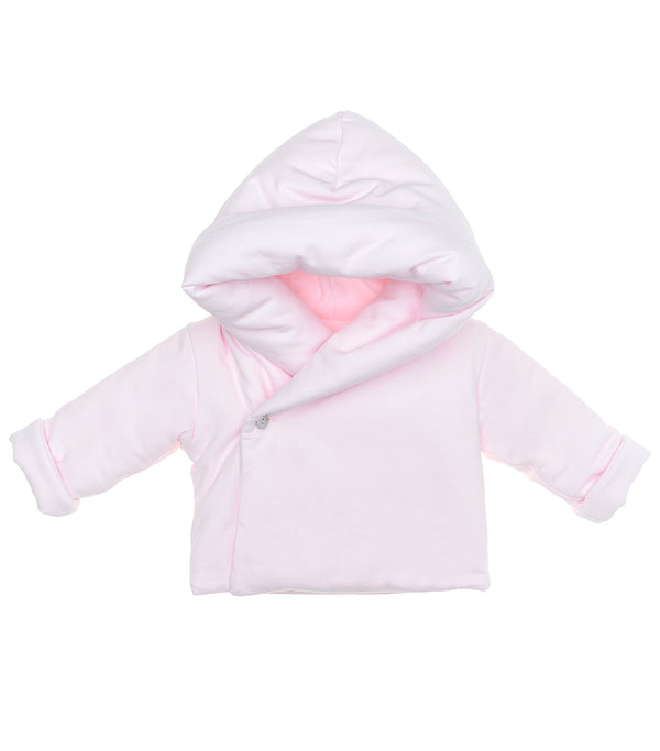 AW20 Laranjinha Baby Girls Pink Hooded Jacket I0020
