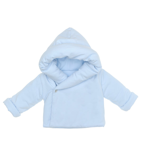 AW20 Laranjinha Baby Boys Blue Hooded Jacket I0020
