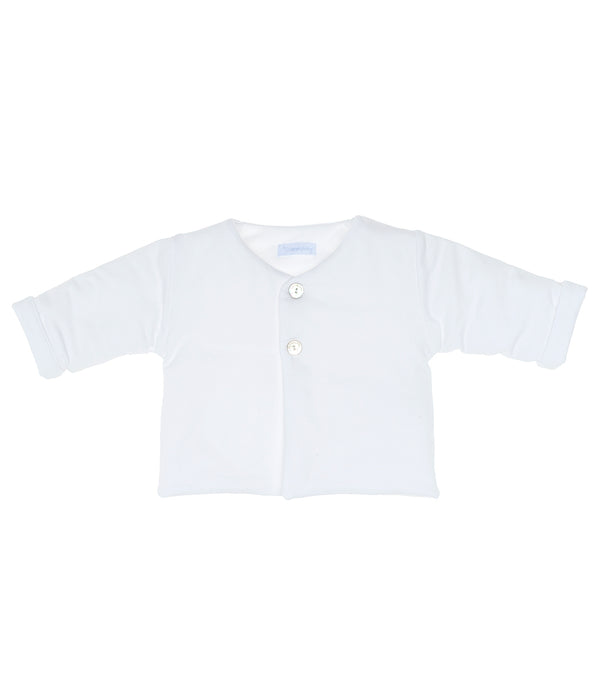 Laranjinha Baby White Velour Jacket