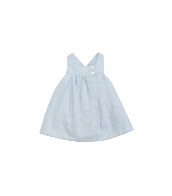 AW18 Laranjinha Baby Girls Blue Pinafore Dress Set I8644 & I8653