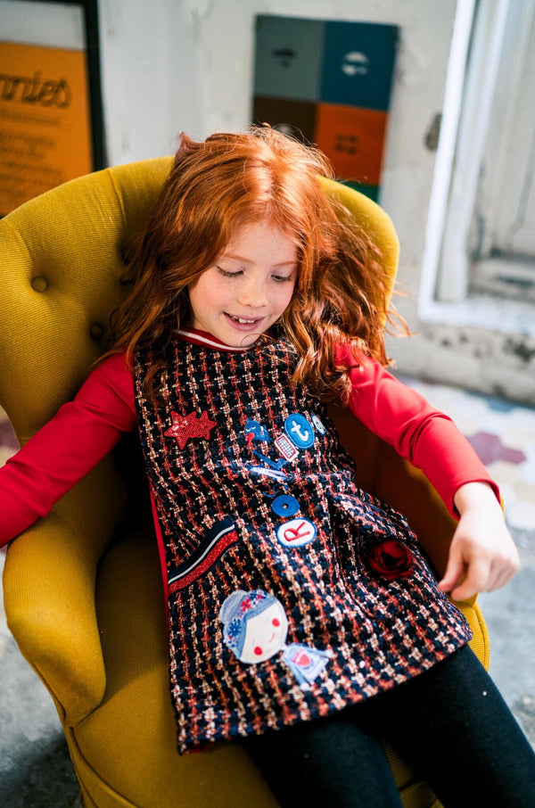 PRE-ORDER AW19 Rosalita Girls Brienz Dogtooth Dress