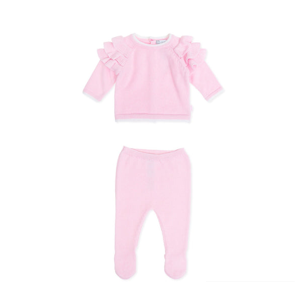AW19 Tutto Piccolo Baby Girls Pink Knitted Set 7600 & 7401