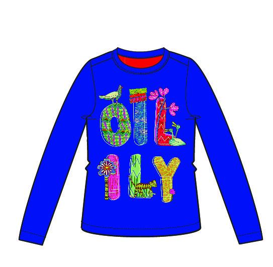 AW18 Oilily Girls Tip T-Shirt 56 Blue With Logo