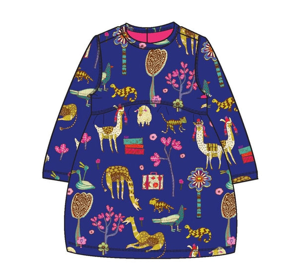 AW18 Oilily Girls Tica Jersey Dress 56 Atlas Mountain Blue