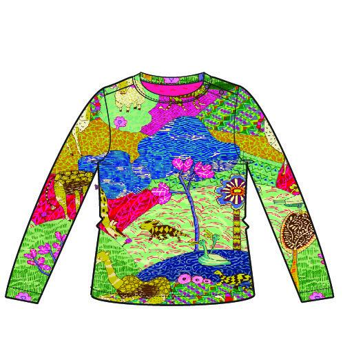 AW18 Oilily Girls Tip T-Shirt 61 Atlas Mountain