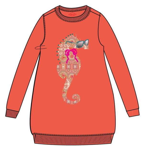 SS19 Oilily Girls Huppel Sweat Dress 17 Orange