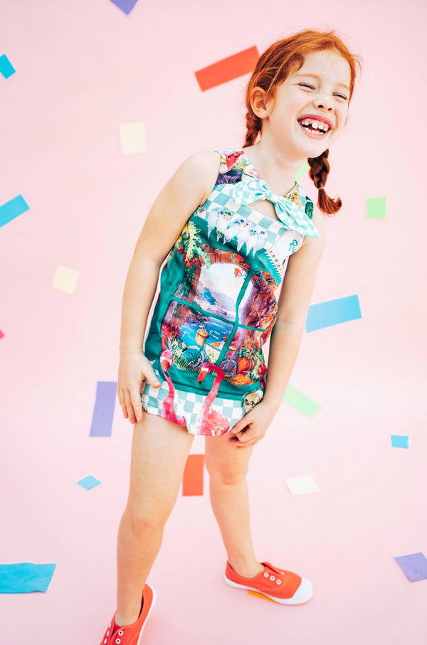 SS19 Rosalita Girls Flamingo Check Dress