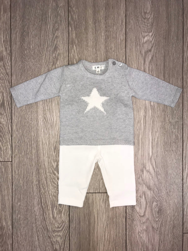 AW18 Everything Must Change Baby Boys Grey & Ivory Trouser Set