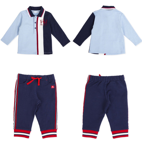 AW19 Tutto Piccolo Boys Blue & Red Tracksuit 7835 & 7136