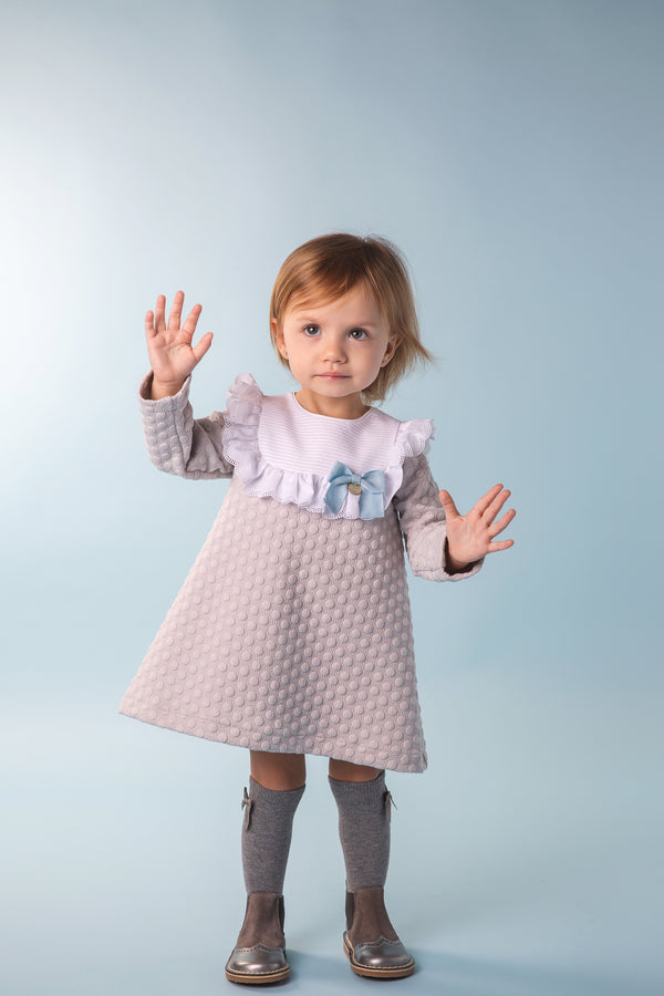 AW19 Rochy Baby Girls Grey Dress T06020