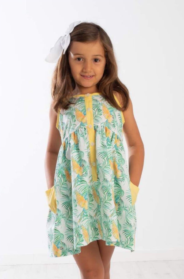 SS20 Meia Pata Girls Parrot Beach Dress