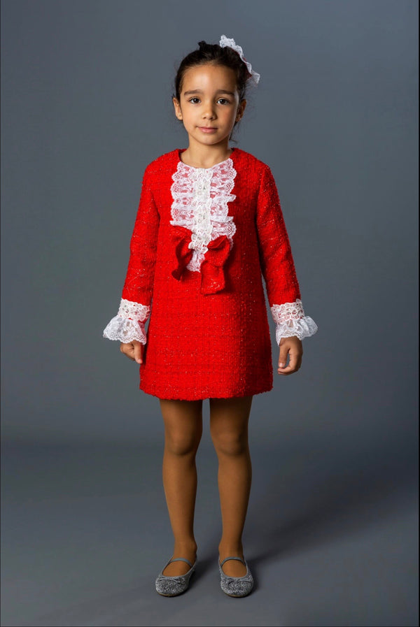 AW19 Naxos Girls Red Chanel Style Dress