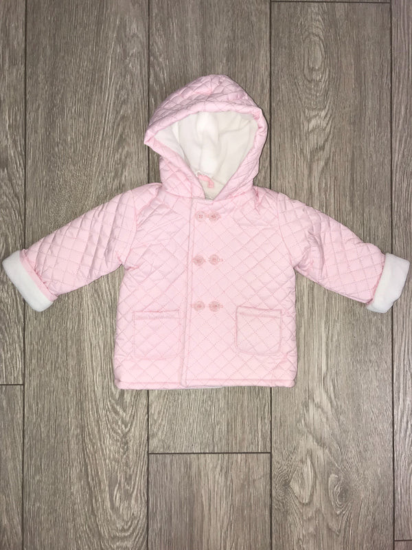 AW18 Everything Must Change Baby Girls Pink Quilted Coat