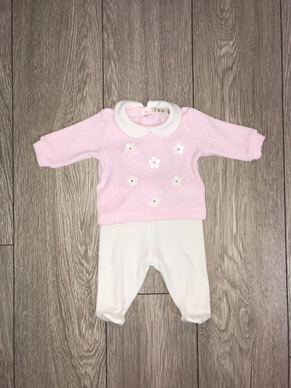 AW18 Everything Must Change Baby Girls Pink & Ivory Two-Piece Set