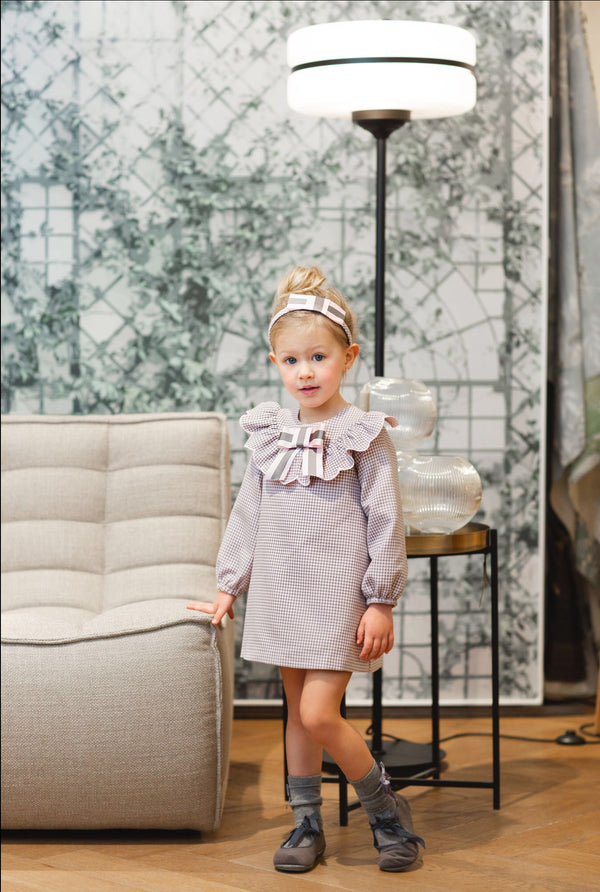 AW20 Rochy Girls Lilac & Grey Onditas A-Line Dress