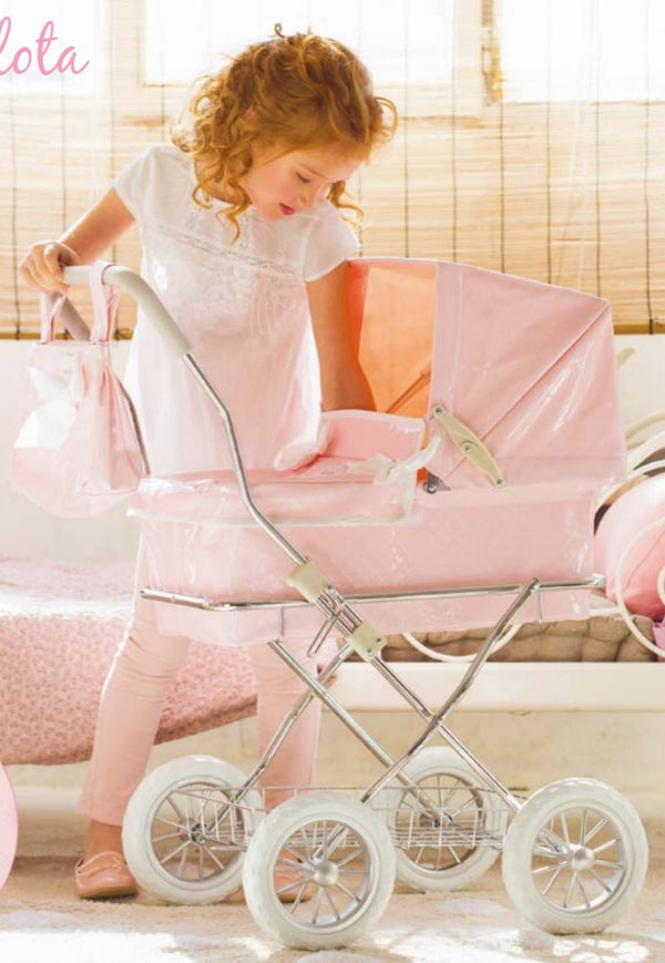 La Nina Doll's Pink Pram and Bag - Liquorice Kids