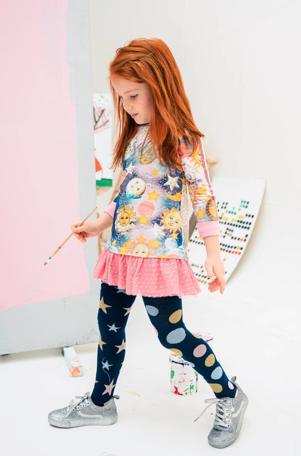 PRE-ORDER AW19 Rosalita Girls Geneva Moon & Stars Dress