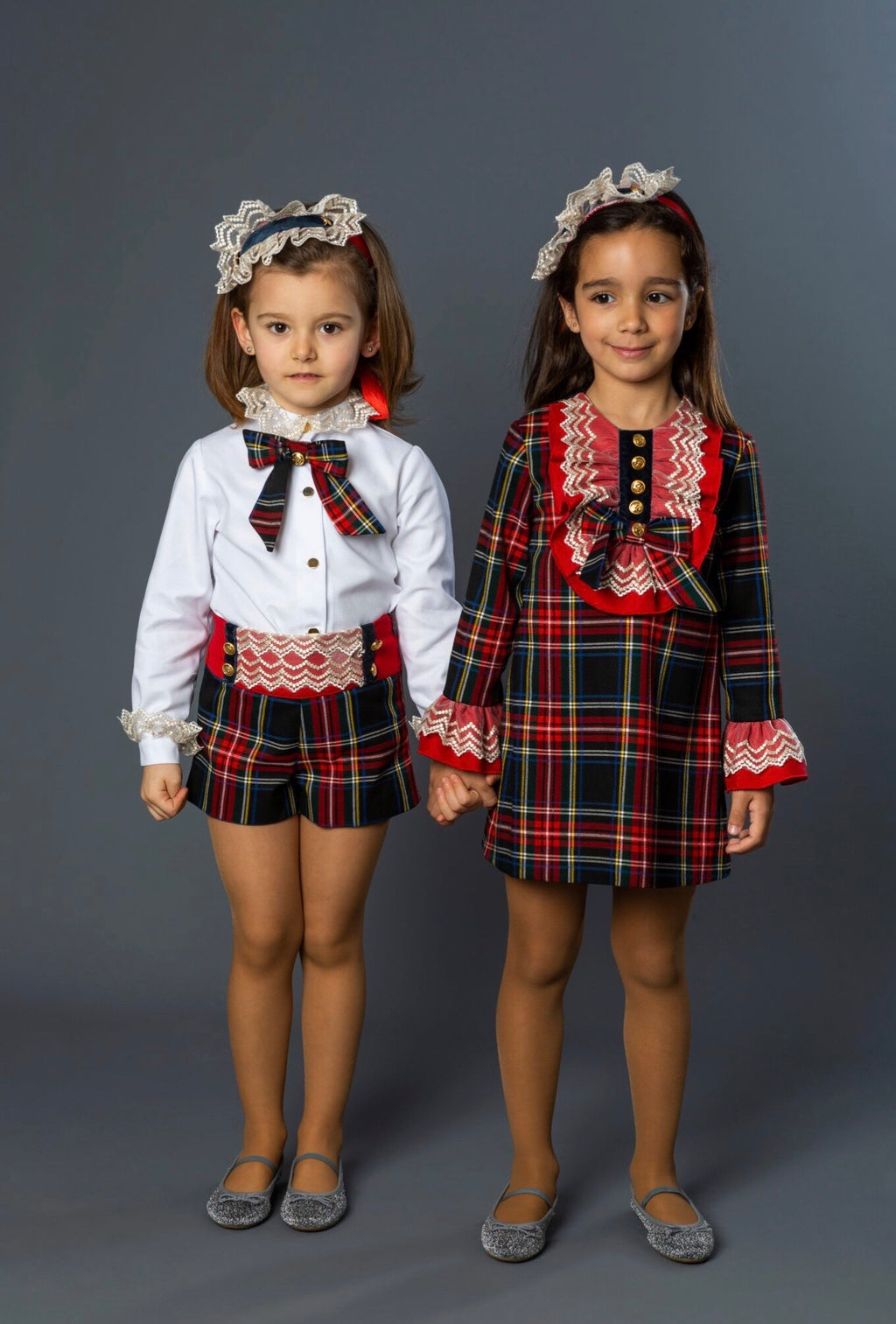 AW19 Naxos Girls Tartan Shorts Set