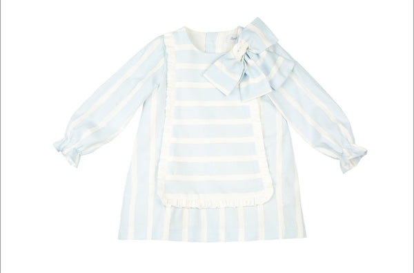 AW20 Rochy Girls Raya Lurex Blue & White Stripe A-Line Dress