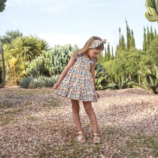 SS21 Rochy Girls Azulejo Dress