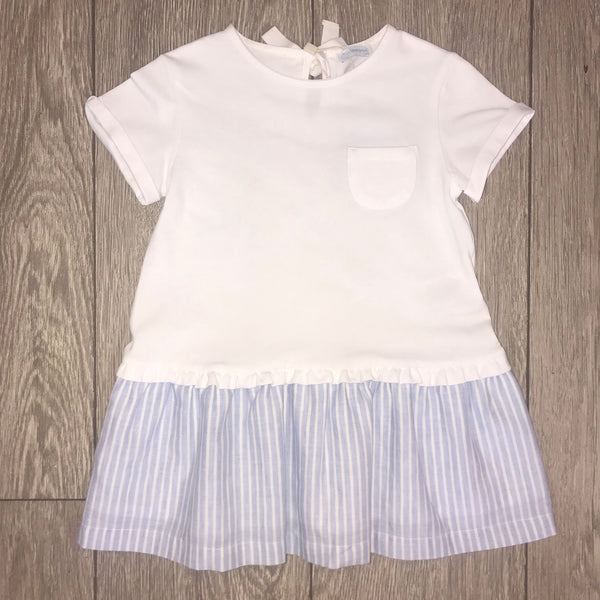 SS19 Laranjinha Girls Lavender Blue & White Stripe Dress V9503