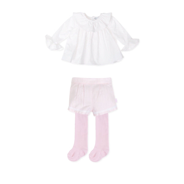 AW19 Tutto Piccolo Girls Pink Shorts Set 7015 & 7414