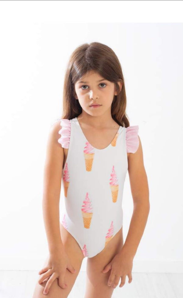 SS20 Meia Pata Girls Guadaloupe Ice Cream Swimming Costume