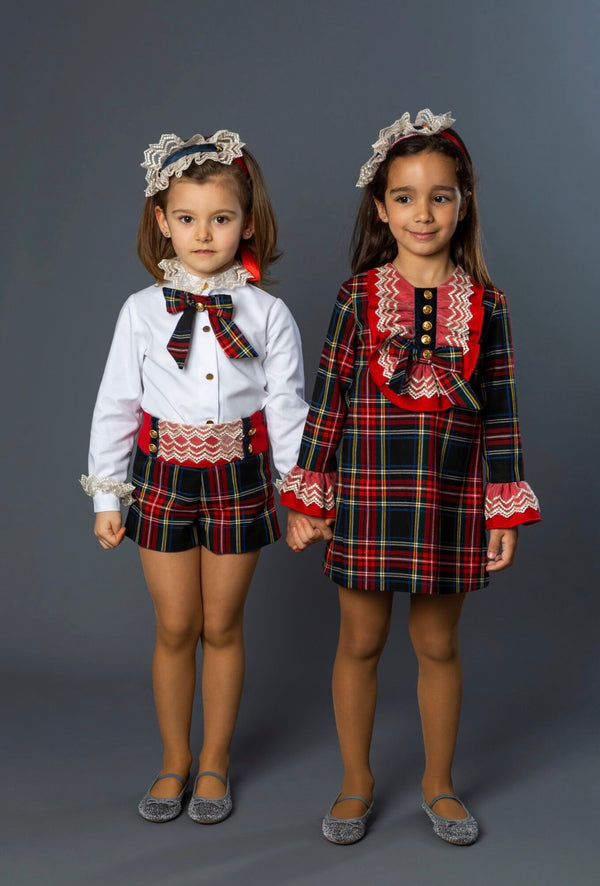 AW19 Naxos Girls Tartan Dress