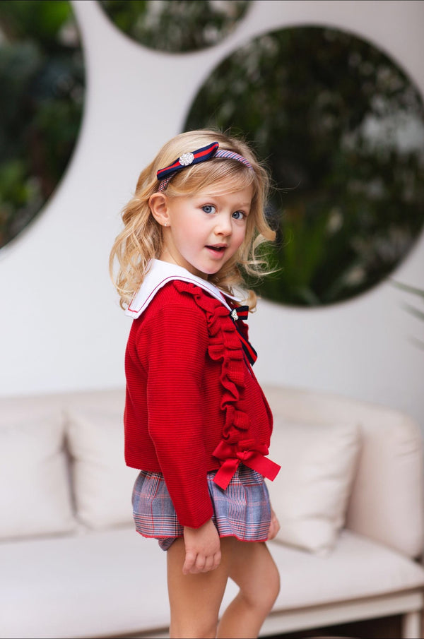 Rochy Girls Red Bow Cardigan