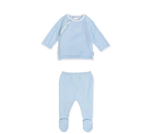 AW19 Tutto Piccolo Baby Boys Blue Knitted Set 7601 & 7401