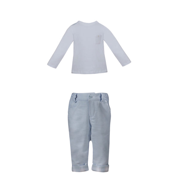 AW19 Patachou Boys Blue Check Set
