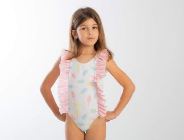 SS20 Meia Pata Girls Martinica Ice Lolly Swimming Costume