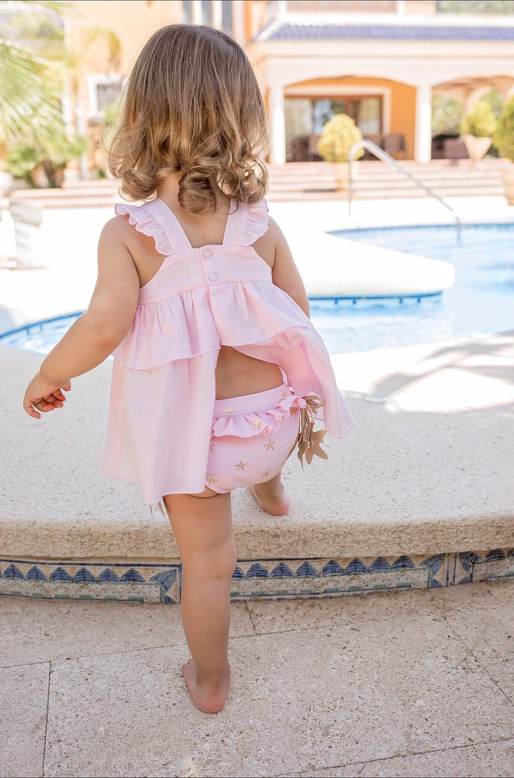 SS20 Dolce Petit Baby Girls Pink Beach Dress 2400-V