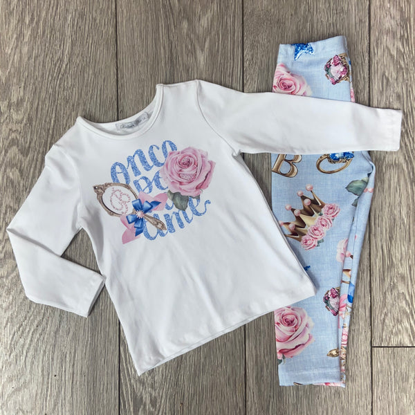 AW20 Balloon Chic Girls Pink Once Upon A Time Leggings Set