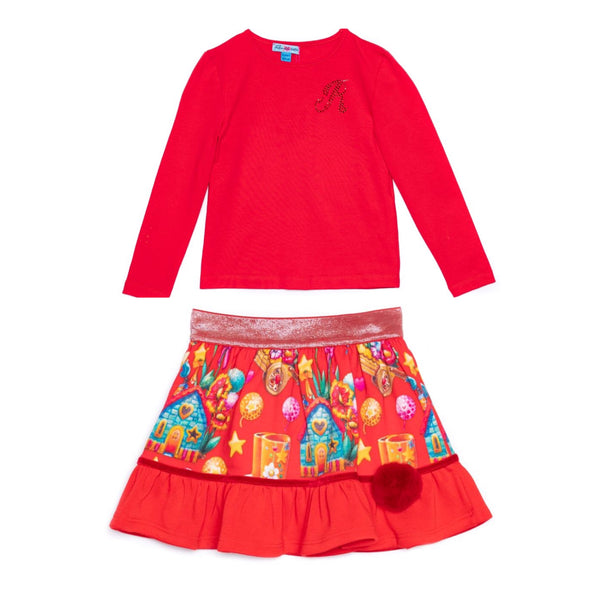 PRE-ORDER AW20 Rosalita Girls Arena Red Skirt Set