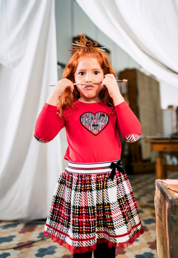 AW19 Rosalita Girls Olten Red Tartan Skirt Set