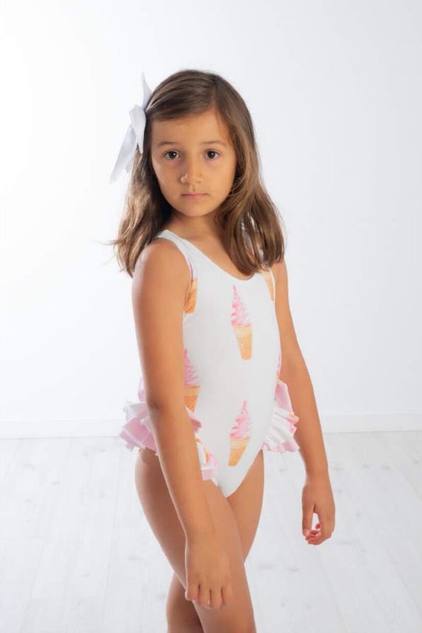 SS20 Meia Pata Girls Bora Bora Ice Cream Swimming Costume