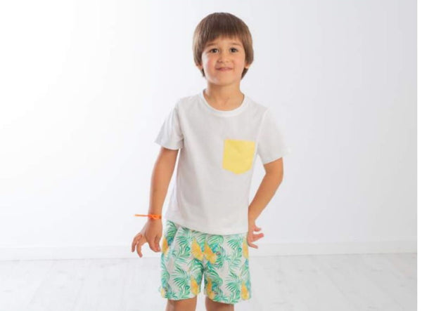 SS20 Meia Pata Boys Yellow  Pocket T-Shirt