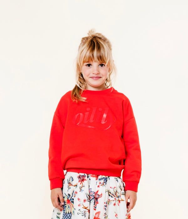 SS20 Oilily Heritage Red Branded Sweater 20