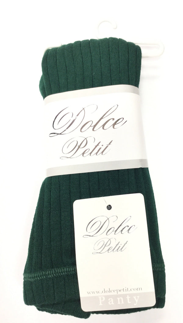 AW15 Dolce Petit Girls Tights - Bottle Green 2500 - Liquorice Kids