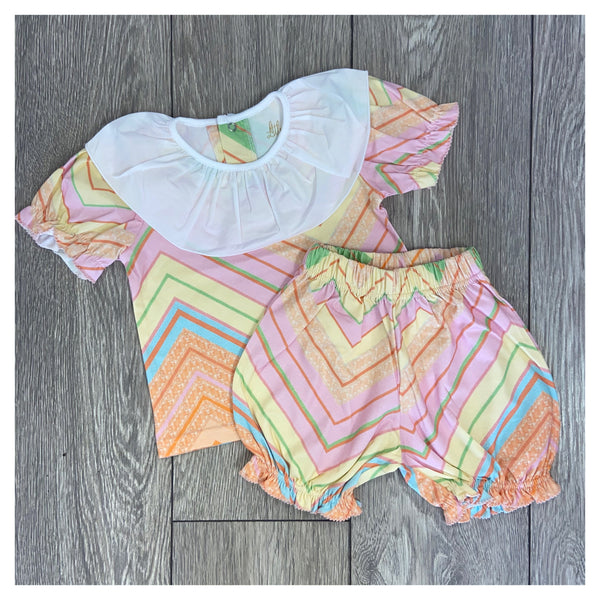 Little Lottie Girls Missoni Style Short Set