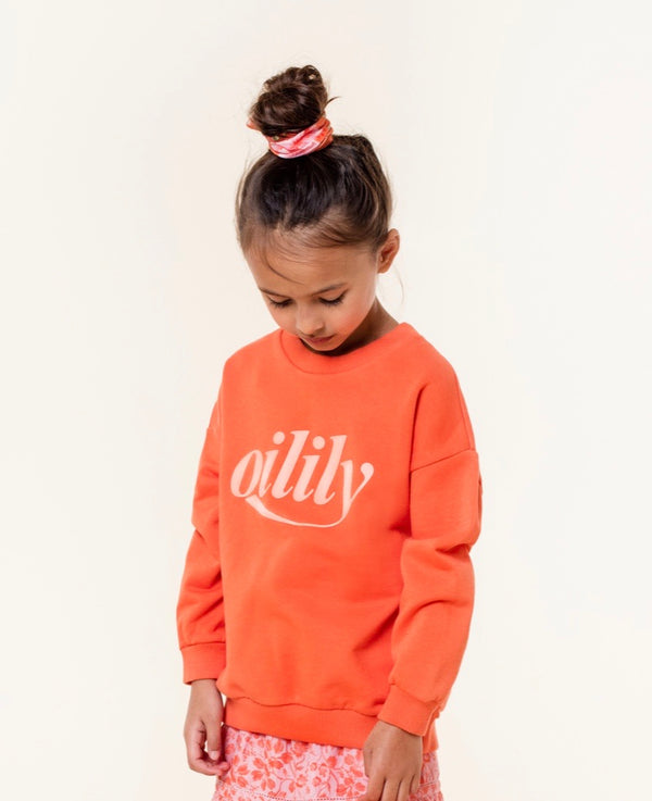 SS20 Oilily Girls Heritage Orange Branded Sweater 18