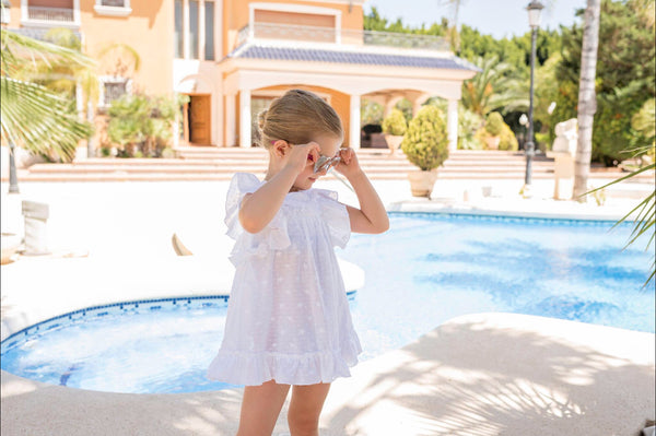 SS20 Dolce Petit Girls White Beach Dress 2422-V