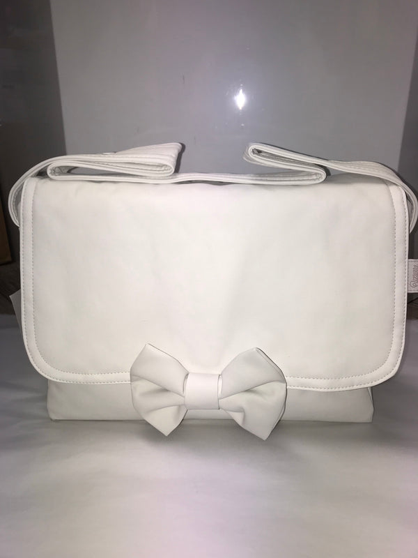 Uzturre Cream Bow Leatherette Changing Bag